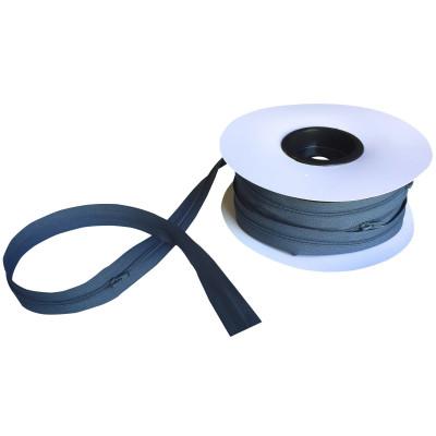 Fermeture à glissière gris charbon 5 mm, les 25 mètres