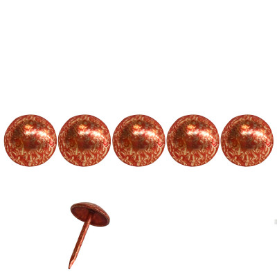 1000 Clous tapissier Rouge Grenade Lentille Fer 9.5 mm