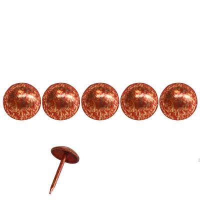 1000 Clous tapissier Rouge Grenade Lentille Fer 11 mm