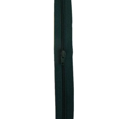 Fermeture à glissière vert foncé 5 mm, le mètre