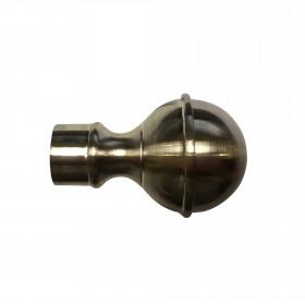 Embout Boule Nickel brossé pour tringle à rideau ø19 mm, à l'unité - Habillage de la fenêtre