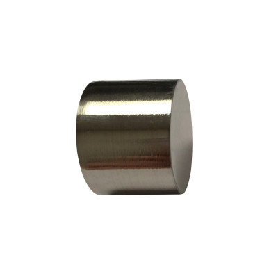Embout Bouchon Nickel Brossé pour tringle à rideaux Ø19 mm, à l'unité