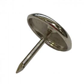 Patin 1 pointe acier Nickelé 25 mm - l'unité - Fournitures tapissier