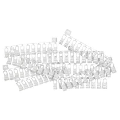 100 Glisseurs asymétrique pour rail rideau CS - blanc