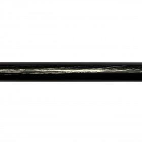 Barre de Rideau Noire Fer Forgé 150 cm ø19 mm - Habillage de la fenêtre