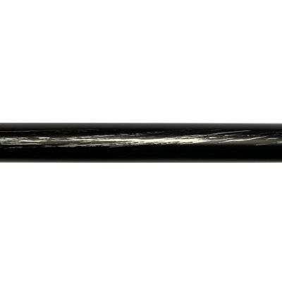 Barre de Rideau Noire Fer Forgé 150 cm ø19 mm