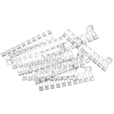 100 Glisseurs asymétriques pour rail rideau KS - DS - blanc