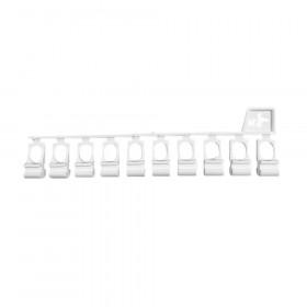 10 Glisseurs asymétriques pour rail rideau KS - DS - Habillage de la fenêtre