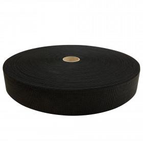 Sangle élastique noire TOP - 65 mm, les 100 mètres - Fournitures tapissier