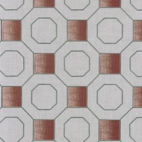 Tissu Camengo - Collection Vérone - Vérone Terracota - 137 cm - Tissus ameublement