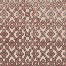 Tissu Camengo - Collection Vérone - Montaigu Terracota - 138 cm - Tissus ameublement