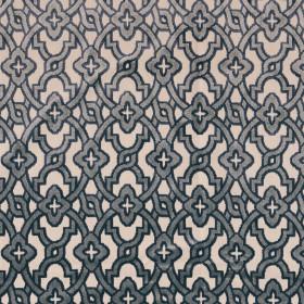 Tissu Camengo - Collection Vérone - Montaigu Bleu - 138 cm - Tissus ameublement