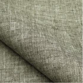 Tissu NOBILIS - Collection Mirage Linum Non feu - Anthracite - 140 cm - Tissus ameublement