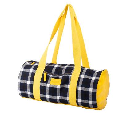 Sac de couture tricot tartan noir et jaune, Bohin