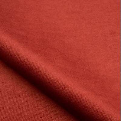 Tissu velours NOBILIS - Collection Milo - Coquelicot - 140 cm