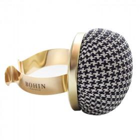 Bracelet ajustable porte épingles doré pied de poule