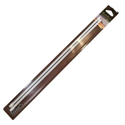 Tringle ronde, laqué blanc, extensible ø 7 mm - Longueur 40 à 65 cm