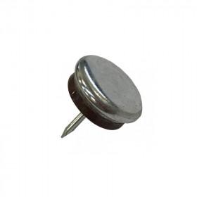 Patin glisseur acier nickelé 1 pointe 15mm - Par 500 - Fournitures tapissier