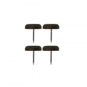 Patin glisseur plastique 1 pointe Ø 15,5 mm - Fournitures tapissier