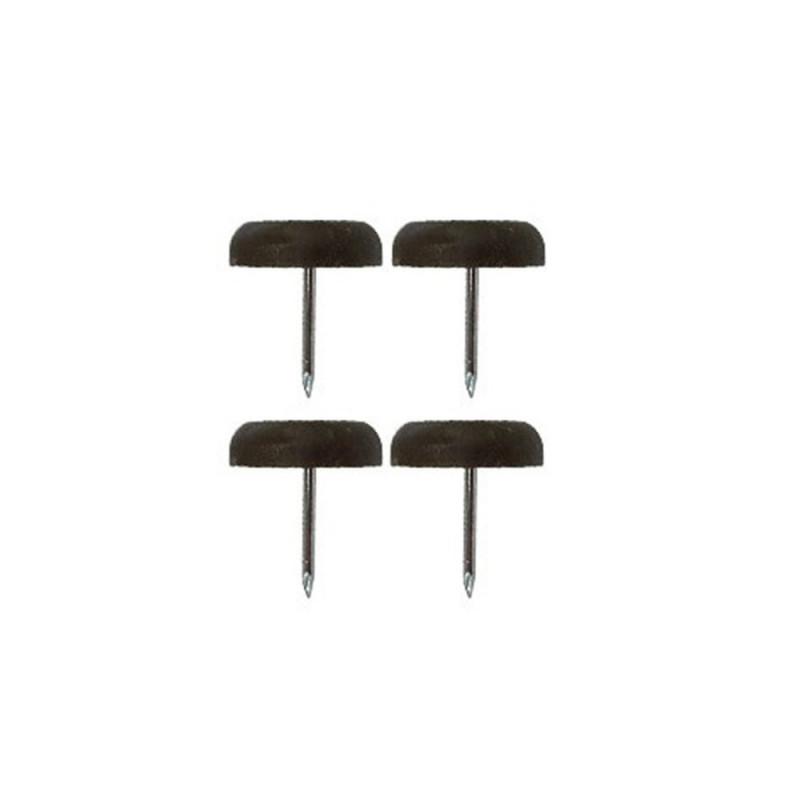 Patin glisseur plastique marron 1 pointe 22mm - Fournitures tapissier