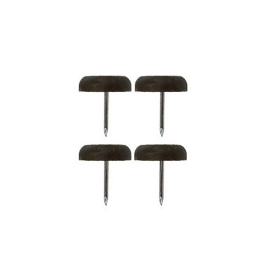 Patin glisseur plastique marron 22mm - Par 4