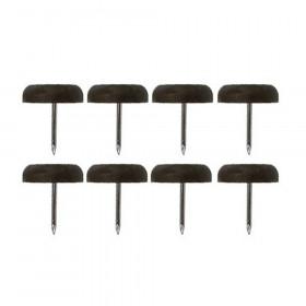 Patin glisseur plastique marron 1 pointe 22mm - Par 10 - Fournitures tapissier