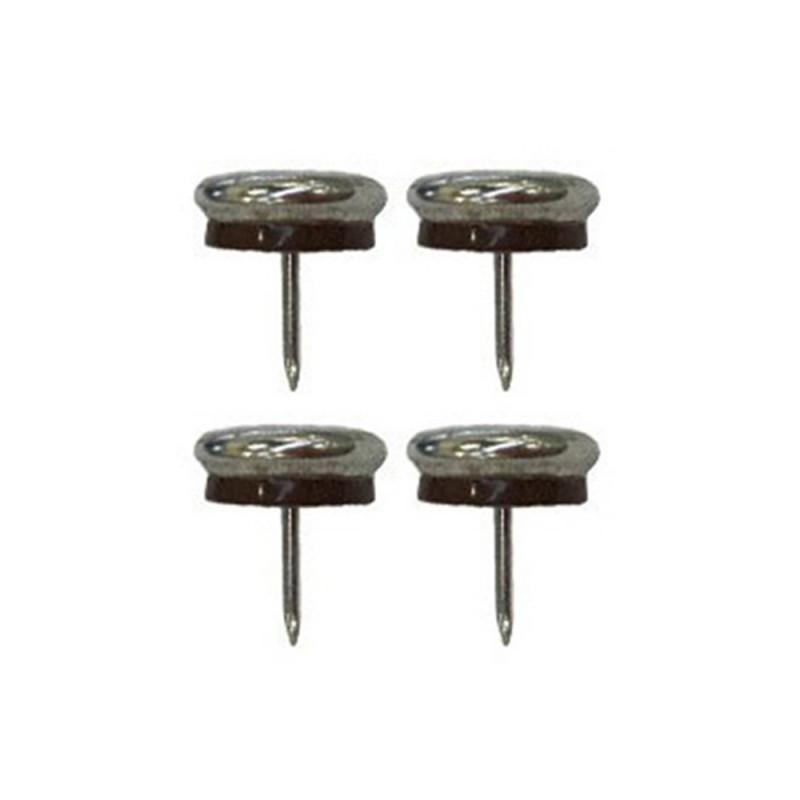 Patin glisseur acier nickelé 1 pointe 18mm - Fournitures tapissier