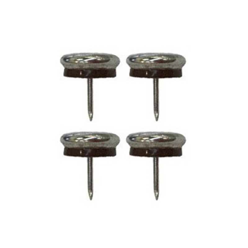 Patin glisseur acier nickelé 1 pointe 23mm - Fournitures tapissier