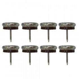 Patin glisseur acier nickelé 1 pointe 23mm - Par 10 - Fournitures tapissier