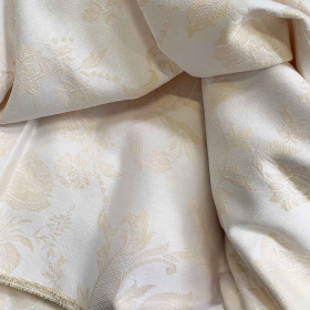 Toile coutil matelas et sommier fleurie 290 g/m² - 245 cm vezelay jaune - Fournitures tapissier