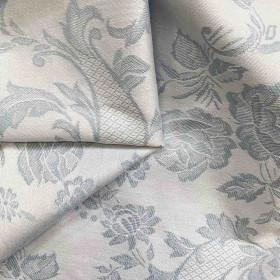 Toile coutil matelas et sommier fleurie 290 g/m² - 245 cm vezelay bleu - Fournitures tapissier