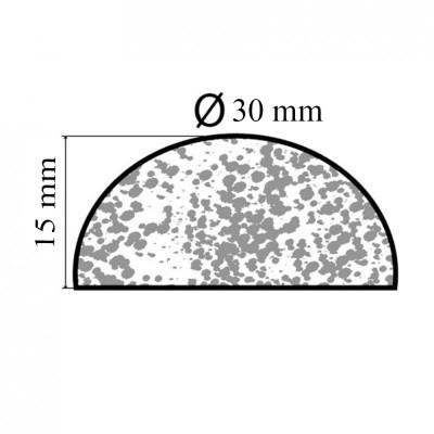 Bourrelet profilé mousse PR197 pour dossier - le mètre