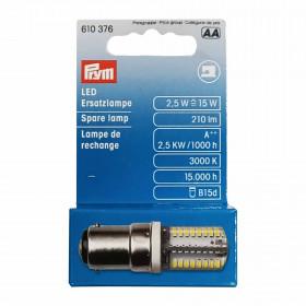 Ampoule LED pour machines à coudre, 2,5W, douille à baïonnette