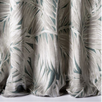 Tissu Nobilis Velours Collection Cycas - Aqua - 140 cm