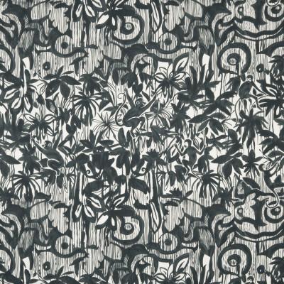 Tissu Nobilis Collection Botanica Sapajou - Noir - 139 cm