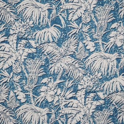 Tissu Nobilis Collection Botanica Barbades - Bleu hawaï - 137 cm