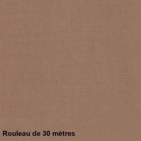 Voilage Polyester Etamine Taupe, Rouleau de 30m - Tissus ameublement