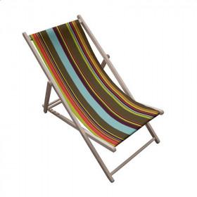 Toile transat - Rayures Multicolores 51 - 43 cm - Tissus ameublement