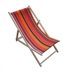 Toile transat - Rayures Multicolores 53 - 43 cm - Tissus ameublement