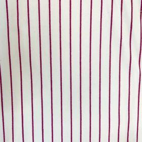 Tissu SATI - Blanc Rayé Rose 300 cm - Tissus ameublement