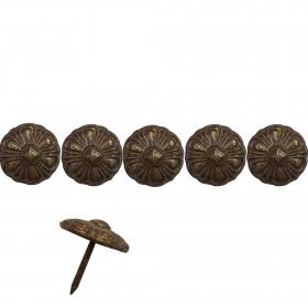 100 Clous tapissiers Ivry Bronze doré 19 mm - Clous tapissier