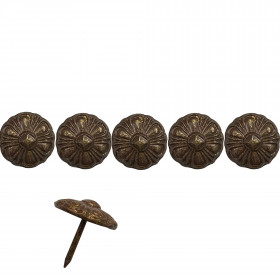 100 Clous tapissiers Cloustyl Bronze doré 19 mm - Clous tapissier