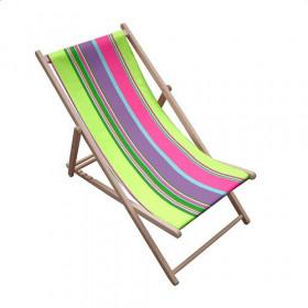 Toile transat - Rayures Multicolores 85 - 43 cm - Tissus ameublement