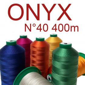 10 Fusettes de fil à coudre ONYX n°40 - 400 ml - Mercerie