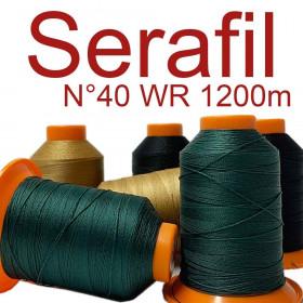 5 Bobines de fil à coudre SERAFIL 40 (WR) - 1200 ml - Mercerie
