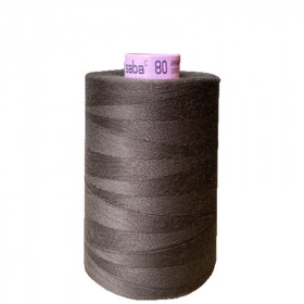 Bobine de fil SABA N°80 - Marron 395 - 5000ml - Mercerie