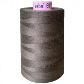 Bobine de fil SABA N°80 - Marron clair 399 - 5000ml - Mercerie