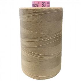 Bobine de fil SABA N°80 - Beige 538 5000ml - Mercerie