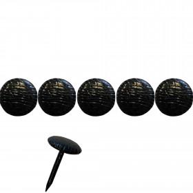 1000 Clous tapissiers Noirs striés - 10 mm - Clous tapissier
