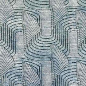 Tissu Casal - Collection Lalique - Bleu Glacier- 140 cm - Tissus ameublement